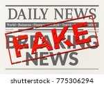 busted daily breaking news.... | Shutterstock .eps vector #775306294