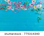 colorful carnival confetti and... | Shutterstock . vector #775314340