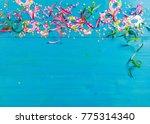 colorful carnival confetti and...   Shutterstock . vector #775314340