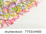 colorful carnival serpentines... | Shutterstock . vector #775314400