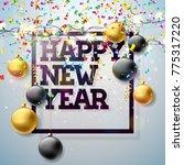 2018 happy new year... | Shutterstock . vector #775317220