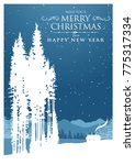 merry christmas and happy new... | Shutterstock .eps vector #775317334