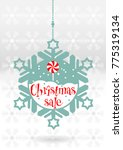 festive christmas banner with a ... | Shutterstock .eps vector #775319134