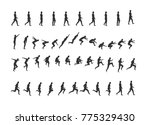 man moves and jumps icons set.... | Shutterstock .eps vector #775329430