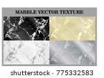 marble texture black yellow... | Shutterstock .eps vector #775332583