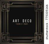 vector card. art deco style.... | Shutterstock .eps vector #775335166