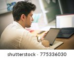 business man working on digital ... | Shutterstock . vector #775336030