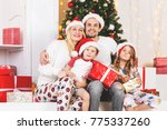 new year's photo of family at... | Shutterstock . vector #775337260