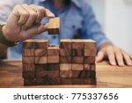 alternative risk concept  plan... | Shutterstock . vector #775337656