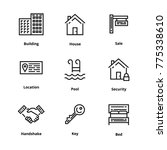 9 real estate thin line icon | Shutterstock .eps vector #775338610
