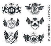 vintage decorative emblems... | Shutterstock .eps vector #775344280