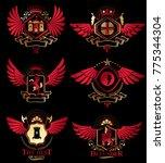 vector vintage heraldic coat of ... | Shutterstock .eps vector #775344304
