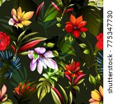 magnolia  tropic leaves and...   Shutterstock .eps vector #775347730