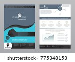 business template made in blue... | Shutterstock .eps vector #775348153