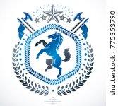 heraldic coat of arms... | Shutterstock .eps vector #775353790