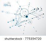 technical plan  abstract... | Shutterstock .eps vector #775354720