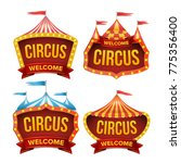 circus sign set vector. night... | Shutterstock .eps vector #775356400