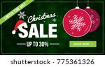 christmas sale limited time... | Shutterstock .eps vector #775361326