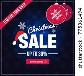 christmas sale limited time... | Shutterstock .eps vector #775361494