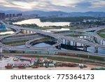city highway interchange in... | Shutterstock . vector #775364173