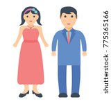 husband and wife standing...   Shutterstock .eps vector #775365166