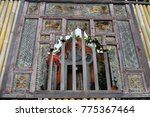 temple can be viewed through a...   Shutterstock . vector #775367464