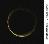golden magic circle ring with... | Shutterstock .eps vector #775367890
