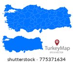 couple set map blue map of...   Shutterstock .eps vector #775371634