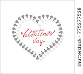 valentines day sale background... | Shutterstock .eps vector #775377538