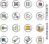 line vector icon set   tv... | Shutterstock .eps vector #775381870