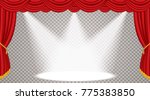 opened stage with red curtain ... | Shutterstock .eps vector #775383850