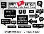 twenty first birthday party... | Shutterstock .eps vector #775385530