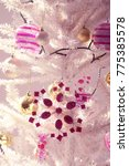 white christmas tree with... | Shutterstock . vector #775385578