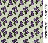 floral seamless pattern.... | Shutterstock .eps vector #775385770