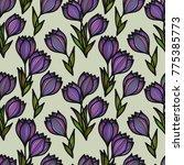 floral seamless pattern.... | Shutterstock .eps vector #775385773
