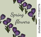 floral seamless pattern.... | Shutterstock .eps vector #775385776