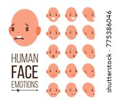 human emotions vector. face... | Shutterstock .eps vector #775386046