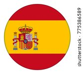 flag of spain  icon. realistic... | Shutterstock .eps vector #775386589