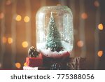 Christmas Tree In Jar With Snow ...