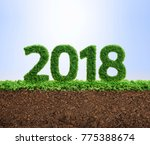 2018 is a good year for growth... | Shutterstock . vector #775388674