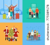 a set of family vector... | Shutterstock .eps vector #775389178