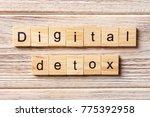 digital detox word written on...   Shutterstock . vector #775392958