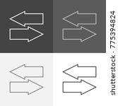 vector image set of navigation... | Shutterstock .eps vector #775394824