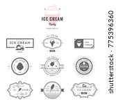 set of ice cream shop labels ... | Shutterstock .eps vector #775396360