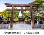 Meiji shrine in tokyo  japan.