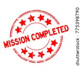 grunge red mission completed... | Shutterstock .eps vector #775398790