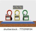 quiz show 3d rendering | Shutterstock . vector #775398934