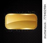 vector casino frame. shining... | Shutterstock .eps vector #775402984