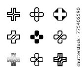 medical cross logo design... | Shutterstock .eps vector #775403590