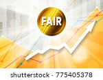 fair cryptocurrency in the... | Shutterstock .eps vector #775405378